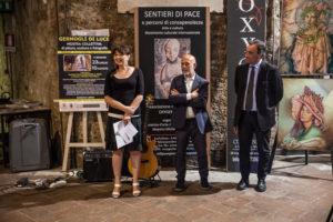 La curatrice d'arte Alessandra A. Palel, Avv. Massimo Perari, critico AICA Alberto Moioli