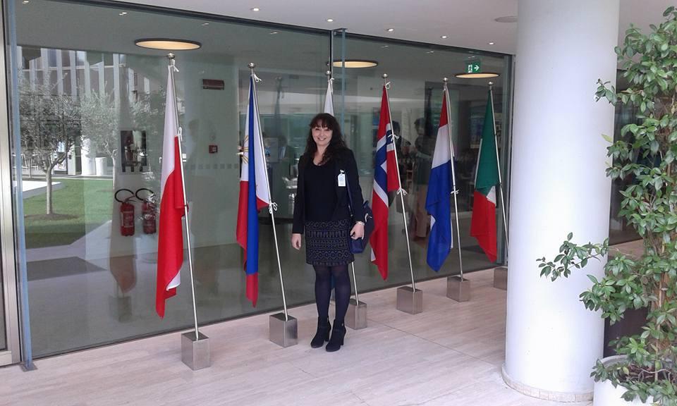 Alessandra Anca Palel, curatrice dell'evento artistico presso la WFP a Roma