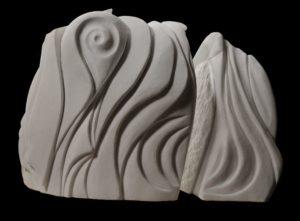 Complementarità silenziosa, bianco di Macedonia, cm 60x50x30
