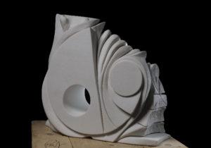 Equilibrio tra dentro e fuori, 2 lato, bianco di Macedonia, 80x60x20