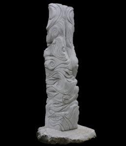 Tra terra e Cielo, 1 lato, 2008, bianco Carrara, cm 250x50x50